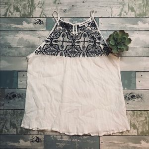 Abercrombie and Fitch Boho Embroidered Tank